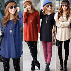 New Fashion Women Loose Long Korean Cable Knitted Sweater Pullover Jumper Coat