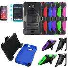 Phone Case For AT&T Prepaid Hydro Air Tempered Glass Screen Holster Cover Stand