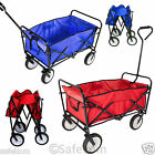 Folding Utility Wagon Trailer Cart Trolley Wheelbarrow For Sports Garden Camping
