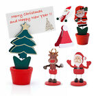 5 x Table Place Setting Name Card Holder Christmas Party Decoration Santa Xmas