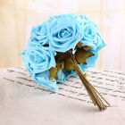 1/6pcs a set Rose Bouquet Wedding Decor Bridal Hydrangeas Artificial Foam Flower