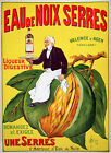 Eau Noix Serres Liquor Drink France French Valence Vintage Poster Repro FREE S/H