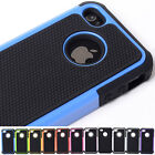 11 colors Sturdy Armour 2 in 1 PC+Silicone Protect case cover for iPhone 4 4g 4s