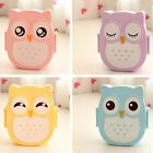 Microwaveable Plastic Owl Lunch Box Bento Food Snack Container Storage Case hot