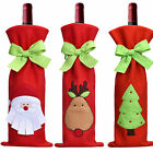 Cute Red Santa Wine Bottle Cover Bag Christmas Dinner Party Xmas Table Decor
