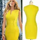 Pinup OL Wear To Work Career Formal Business Women's Bodycon Wiggle Pencil Dress