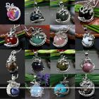Natural Gemstone Amethyst Quartz Bead Copper Dragon Wrap Pendants For Necklace