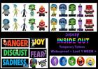 Disney INSIDE OUT film WATERPROOF tattoos LAST1 WEEK loot bag 7 10 36 tattoo