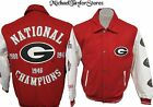 Georgia Bulldogs Men's Limited Edition Wool w/ Leather Jacket NCAA M-2XL 3PATCH
