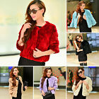 Lady Women's Farm 100% Real Rex Rabbit Fur Coat Jacket Outwear Short Overcoat