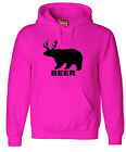 Pink hoodie redneck girl sweatshirt beer deer bear funny men's size sweats
