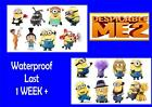 DESPICABLE ME Minions TATTOOS X 8  tattoo loot bag party sticker LAST 1 WEEK+