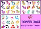 MY LITTLE PONY  WATERPROOF tattoos  12  36 temporary  tattoo LAST1 WEEK party