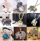 New Charm Elegant Fashion Elephants Pendant Sweater Chain Retro Silver Necklace