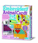 Great Gizmos Embroidery Cards - Animals Sewing Cross stitch Craft Kit Kids Toy