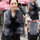 2015 Best 100% New Real Genuine Fox Fur Vest Jacket Coat Gilet Waistcoat Vintage