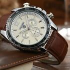 New TEVISE Automatic Mechanical Date Week Genuine Leather Band Analog Mens Watch