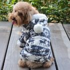 Pet Dog Cat Warm Winter Clothes Jumpsuit Puppy Hoodie Outwear Costume Coat S-XXL
