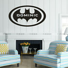 Personalized Name Customers Batman FLy Circle Animation wall decal quote sticker