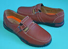 NEW Women Leather flats shoes Red Brown US size 5,6,7,8,9,10