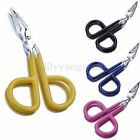 1/5X Scissors Flat Tip Eyebrow Tweezers Clamp Clipper Stainless Eyebrow Removal