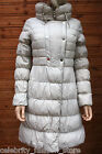 Karen Millen Ivory Signature Padded Popper Insulated Quilted Mac Coat 8 36 New