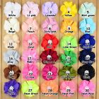 Wholesale 7cm Chiffon Pearl sewing corsage Hair head flower Appliques  30collor