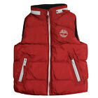 Timberland Padded Vest Kids Boys Hooded Red Gilets Bodywarmers (T2307 968 U3D)