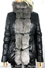 Karen Millen Black Signature Removable Faux Fur Padded Quilt Jacket Coat 8 - 14