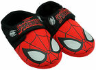 Boys Official Spiderman Face Web Print Velcro Slippers UK Shoe sizes 6 to 11