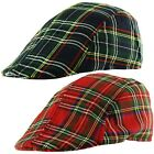 YOUTH KIDS Scottish Tartan Check Baker Boy Newsboy Ivy Cabbie Flat Cap Hat