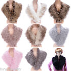 Fashion Ladies Fluffy Winter Faux Fur Collar Scarf Shawl Wrap Stole For Women H
