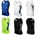 Mens Compression Sleeveless Sports Tight Shirts Fitness GYM Base Layer Top S-XXL