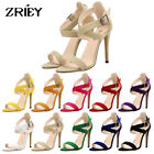 ZriEy TM Womens High Heels Flannelette Velvet Stilettos Sandal Ankle Strap Shoes