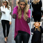 Fashion Women's Sexy Long Sleeve Casual Blouse Tops Irregular Slim T-Shirt New