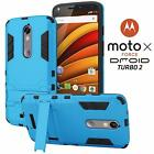 Bionic Armor Slim Fit Shockproof Case For Motorola Moto X Force Droid Turbo 2