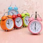 Classic Silent Double Bell Alarm Clock Quartz Movement Bedside w/ Night Light
