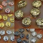 Solid Metal Lion Head Bracelet Necklace Connector Charm Beads Silver Gold 12mm