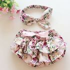 Newborn Baby Girls Lace Ruffle PP Pants Toddler Kids Bloomers Shorts Nappy Cover
