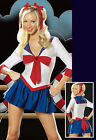 HY149 New Womens' Mini Sexy Sailor Outfit Cosplay Costume Moon Dress Size M,XL