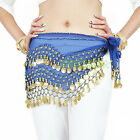 12X WHOLESALE LOT ADULT BELLY DANCE HIP SCARF SKIRT WRAP golden coins
