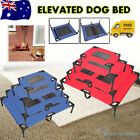 Pet Bed Dog Trampoline Hammock Bed Cat Puppy Cover Foldable Frame Red OR Blue AU