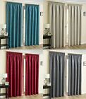 THERMAL BLOCKOUT TAPE CURTAINS LINED PENCIL PLEAT CREAM RED TEAL GREY