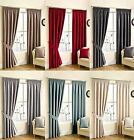 RICO CHENILLE LINED CURTAINS READY MADE TAPE TOP CURTAIN PAIRS