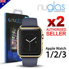 2 X Nuglas Tempered Glass Screen Protector for Apple Watch 38mm 42mm iWatch