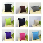"10 Pure Colors Pillow Case Sofa Waist Throw Cushion Cover Home Decor 18""x18"""