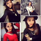 Sexy Fashion Lady Women's Long Sleeve Sweater Casual Tops Slim T-shirt Tee Blous