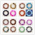 10Pcs Charming Mixed Gemstone Round CAB CABOCHON 16x5mm S-22K