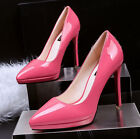 Womens Patent Leather Pointed Toe Pumps Sexy Platform Formal Party Work Shoes