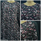 NEW M&S MARKS & SPENCER SWING DRESS TUNIC BLACK BURGUNDY PURPLE CASUAL 6 - 22